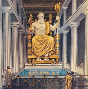 The Statue Of Zeus At Olympia Wonder Of The World Wilstar Com