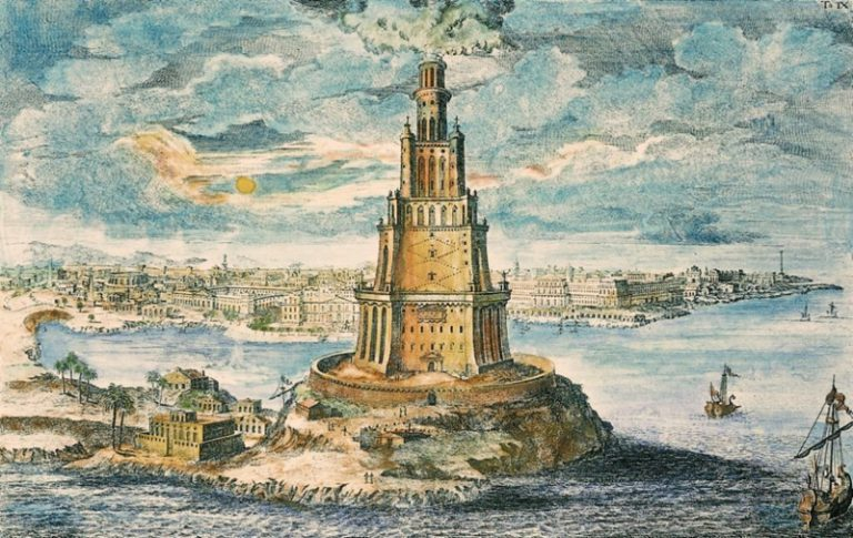 information about a the lighthouse of alexandria The lighthouse of alexandria was one of the seven ancient wonders of the world it was situated on the small offshore island of pharos, lighting the way for many sailors navigating the tricky harbor this place was considered to be one of the centers of the civilization by the time it was build.