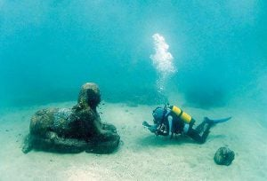 Image of a Sphinx Under Water
