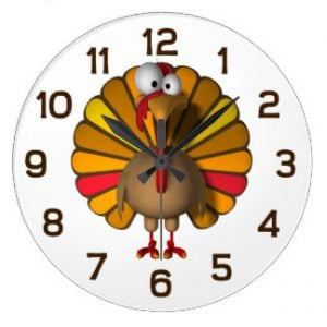 picture of a thanksgiving time clock
